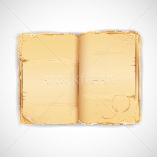 антикварная книга иллюстрация Vintage бумаги дизайна Сток-фото © vectomart