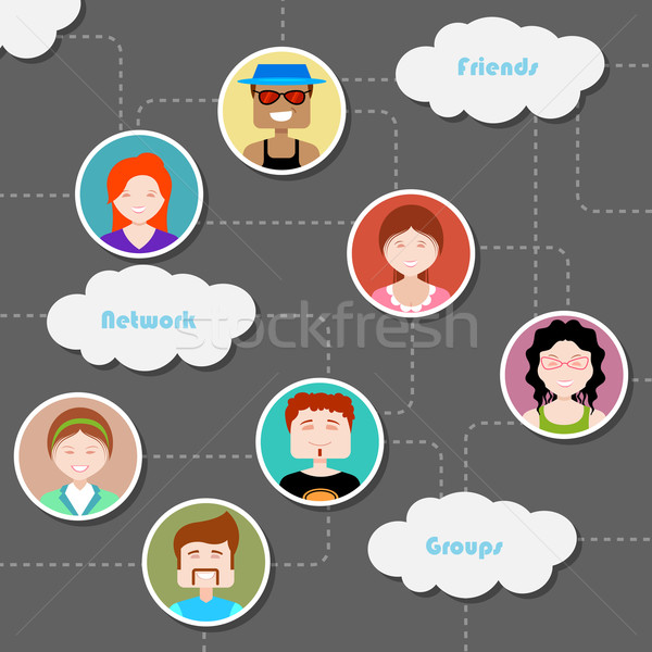 Social Media Cloud Computing Network Stock photo © vectomart