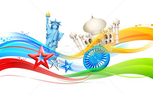 Relação ilustração bandeira estrela financiar papel de parede Foto stock © vectomart