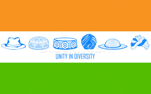 Unity in diversity of India Stock photo © vectomart