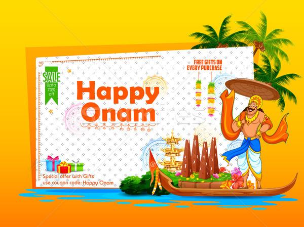 Króla reklama promocji szczęśliwy festiwalu południe Zdjęcia stock © vectomart