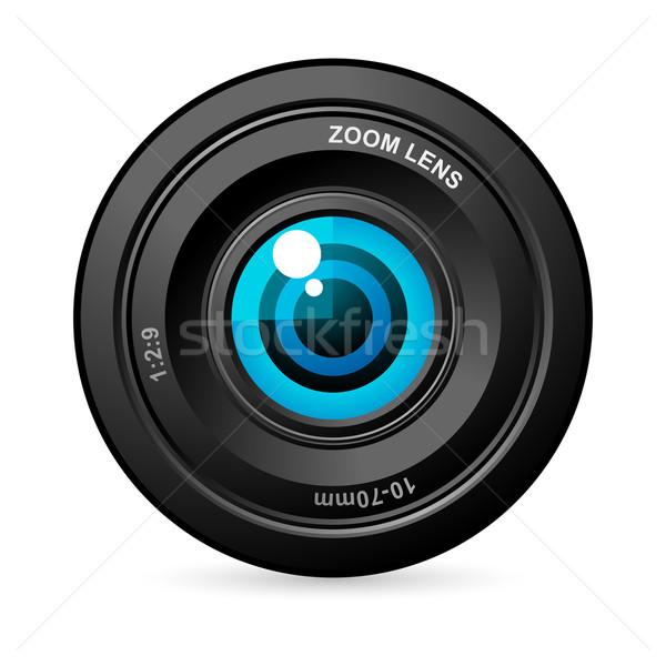 Stock photo: Eye in Camera Lens