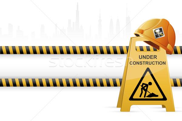 Costruzione illustrazione costruzione città viaggio Foto d'archivio © vectomart