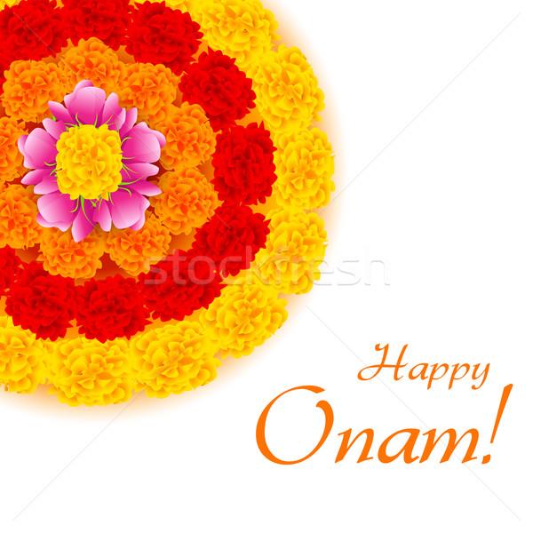 Flower Rangoli for Onam Stock photo © vectomart