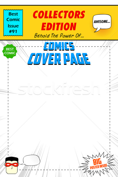 Comic Book Cover Stock photo © vectomart