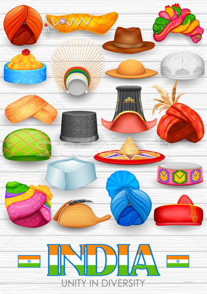 Traditional Indian Headgears Stock photo © vectomart
