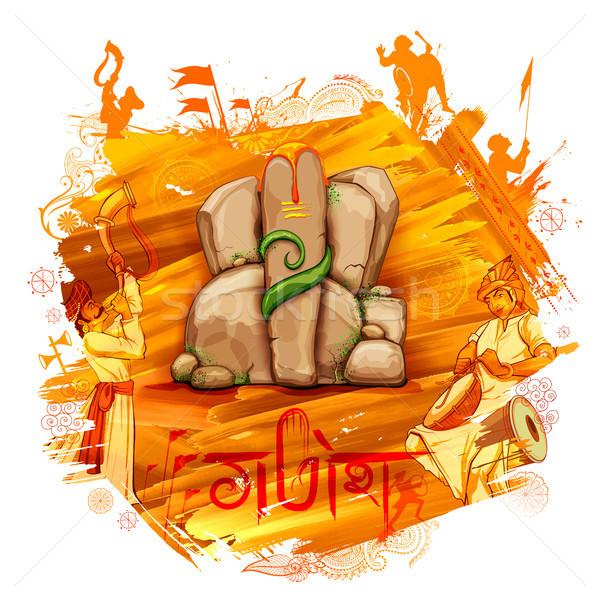örnek mesaj dua ibadet fil heykel Stok fotoğraf © vectomart