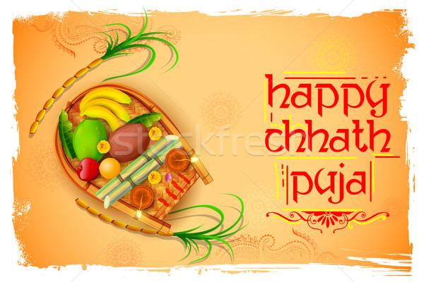 Mutlu tatil güneş festival Hindistan örnek Stok fotoğraf © vectomart