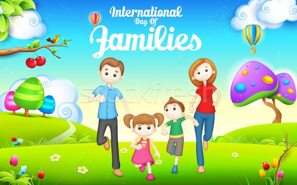 Międzynarodowych dzień rodziny ilustracja kobieta rodziny Zdjęcia stock © vectomart