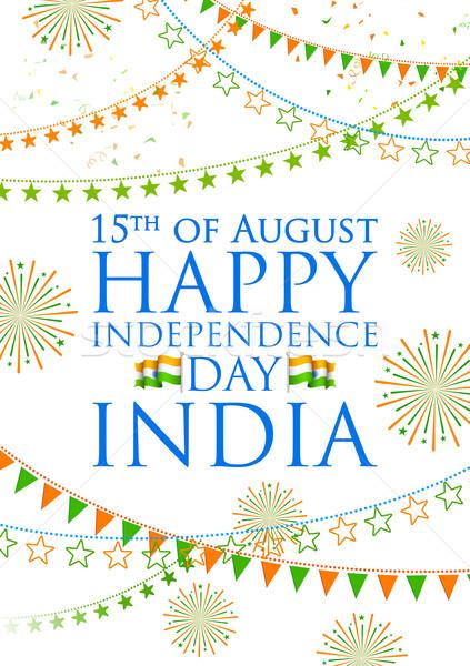 Driekleur Indië banner gelukkig dag indian Stockfoto © vectomart