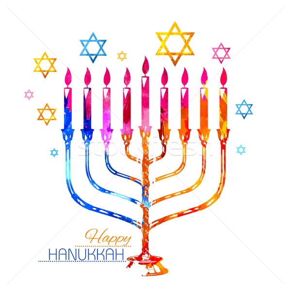 Happy Hanukkah, Jewish holiday background Stock photo © vectomart
