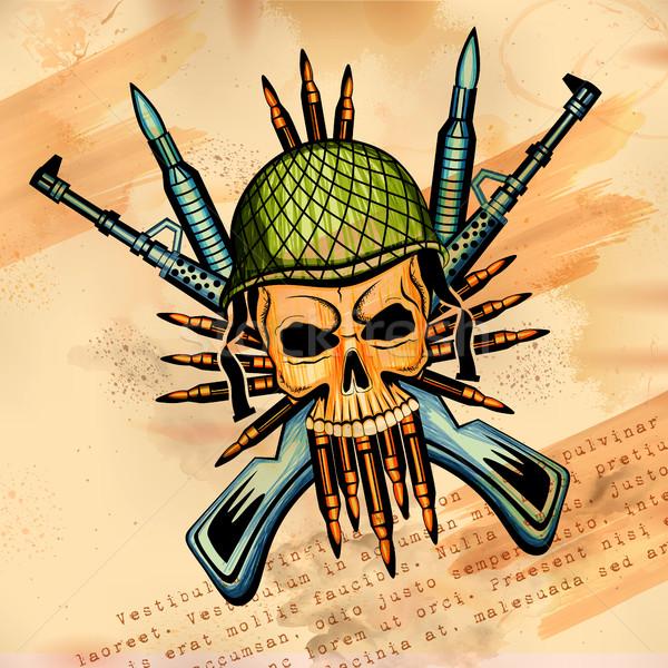 スタイル 頭蓋骨 印刷 レトロな 実例 ストックフォト © vectomart