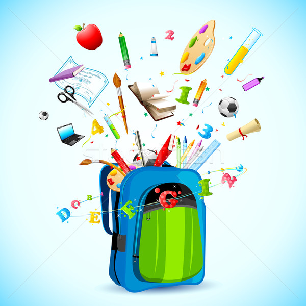 Retour Pack illustration école objet sur Photo stock © vectomart