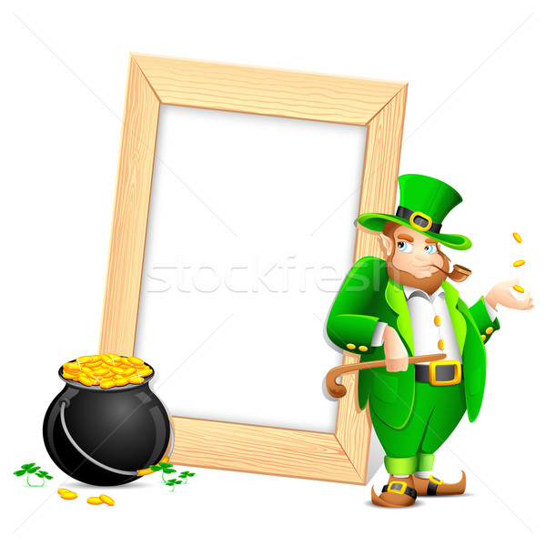 Saint Patrick's Day Photo Frame Stock photo © vectomart