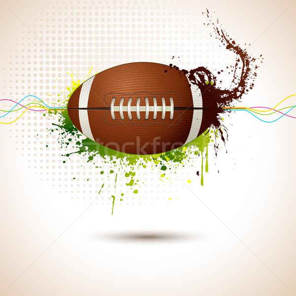 Rugby ball ilustracja streszczenie sportu piłka nożna Zdjęcia stock © vectomart