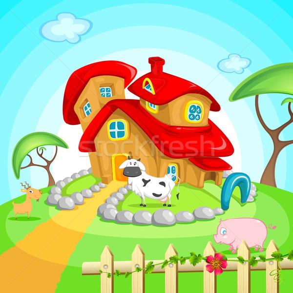 Farm House Stock photo © vectomart