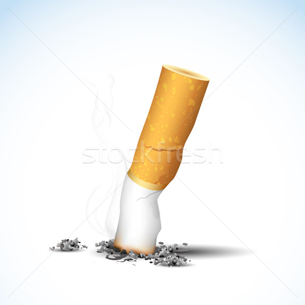 Brûlant cigarette illustration blanche santé Photo stock © vectomart