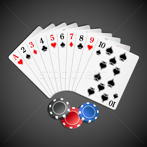 Playing Card with Poker Stock photo © vectomart