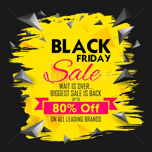 Black friday verkoop winkelen bieden promotie vrolijk Stockfoto © vectomart
