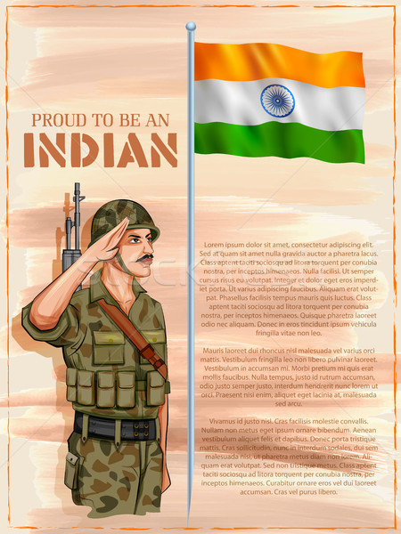 Indian armée pavillon Inde fierté illustration Photo stock © vectomart