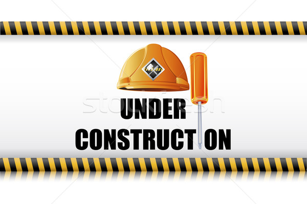 Hard Hat with Screw Driver Stock photo © vectomart