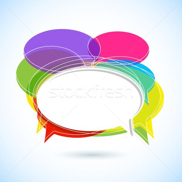 красочный чате пузырь иллюстрация аннотация фон искусства Сток-фото © vectomart