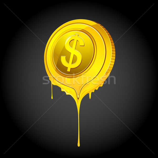 Melting Dollar Stock photo © vectomart