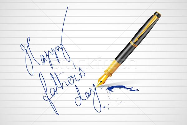Kalem yazı mutlu babalar günü mesaj örnek kâğıt Stok fotoğraf © vectomart