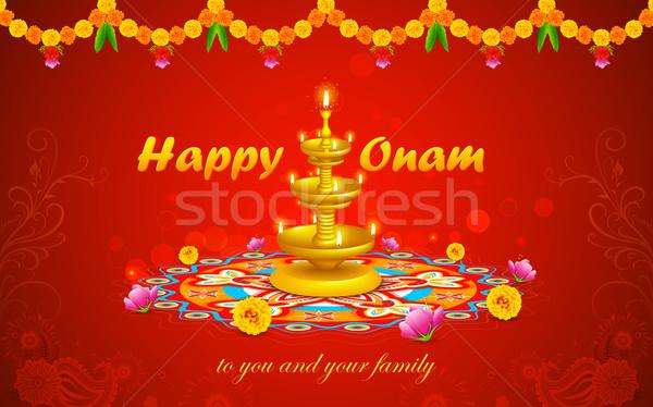 Happy Onam Stock photo © vectomart