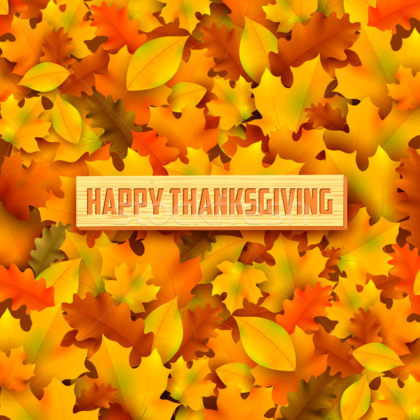 Happy Thanksgiving background with maple leaves Stock photo © vectomart