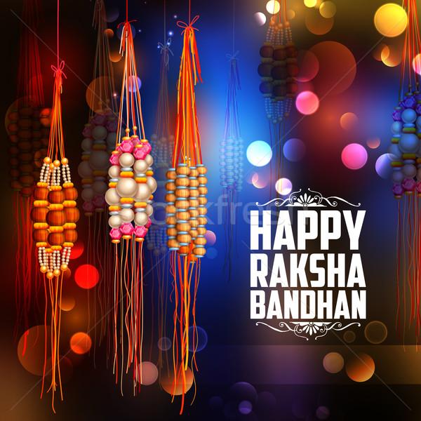 Decorative Rakhi for Raksha Bandhan background Stock photo © vectomart