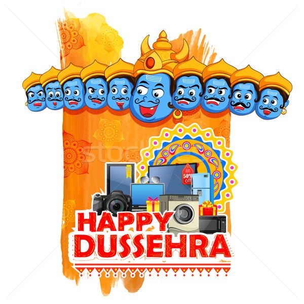 Ravana for Happy Dussehra sale promotion Stock photo © vectomart