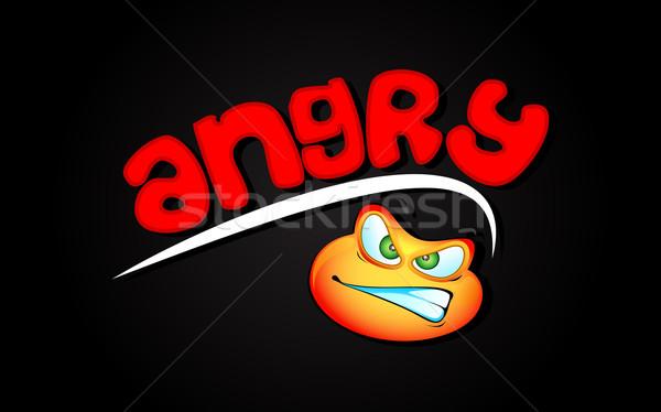 Woede illustratie boos lip oog Stockfoto © vectomart
