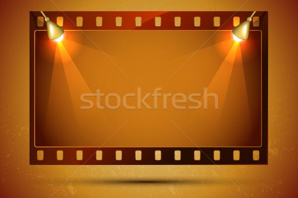 Filmstrip illustratie frame focus licht technologie Stockfoto © vectomart
