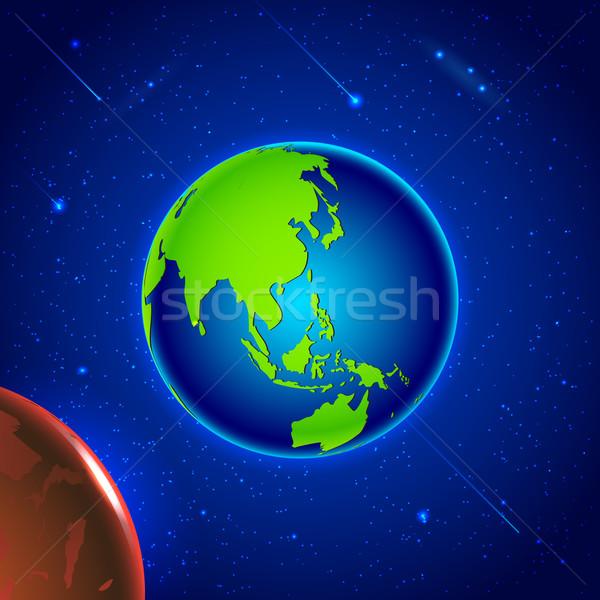 Naprendszer illusztráció Föld űr hold háttér Stock fotó © vectomart