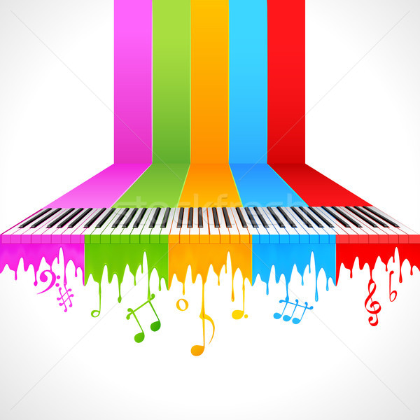 Colorful Piano Stock photo © vectomart