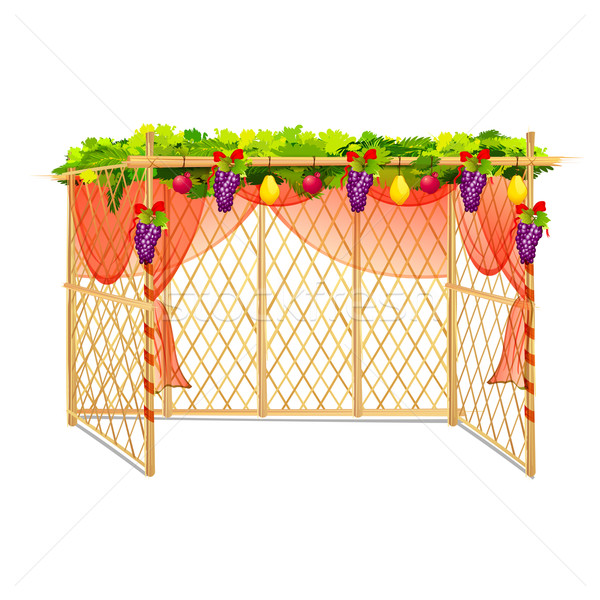 Sukkah for celebrating Sukkot Stock photo © vectomart