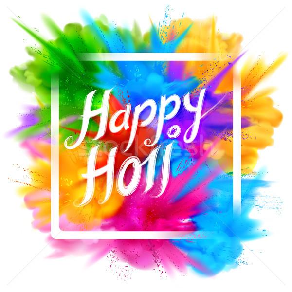 Feliz color festival India celebración Foto stock © vectomart