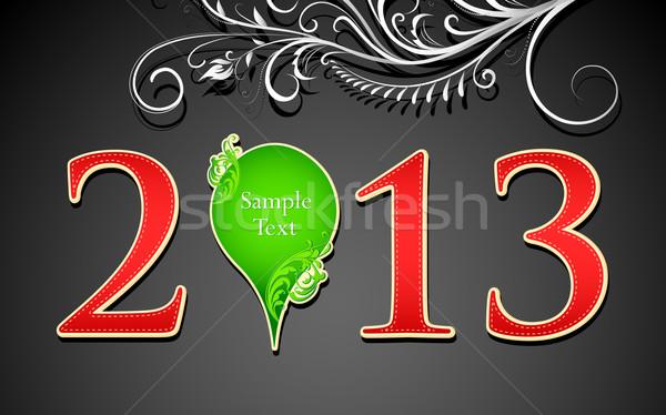 Buon anno illustrazione floreale chattare bolla abstract design Foto d'archivio © vectomart