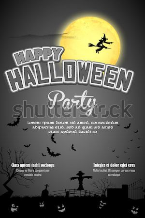 Happy Halloween Background Stock photo © vectomart