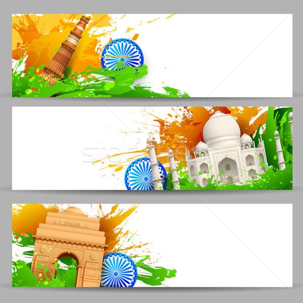 Stok fotoğraf: Hint · afiş · örnek · ayarlamak · renkli · Hindistan