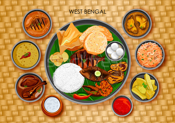 Curry stock vectors illustrations and cliparts stockfresh for Authentic bengali cuisine