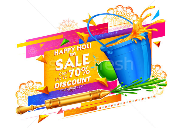 Happy Holi Advertisement Promotional background for Festival of Colors celebration greetings Stock photo © vectomart