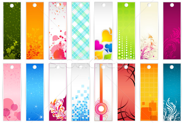 Set of Bookmark Stock photo © vectomart