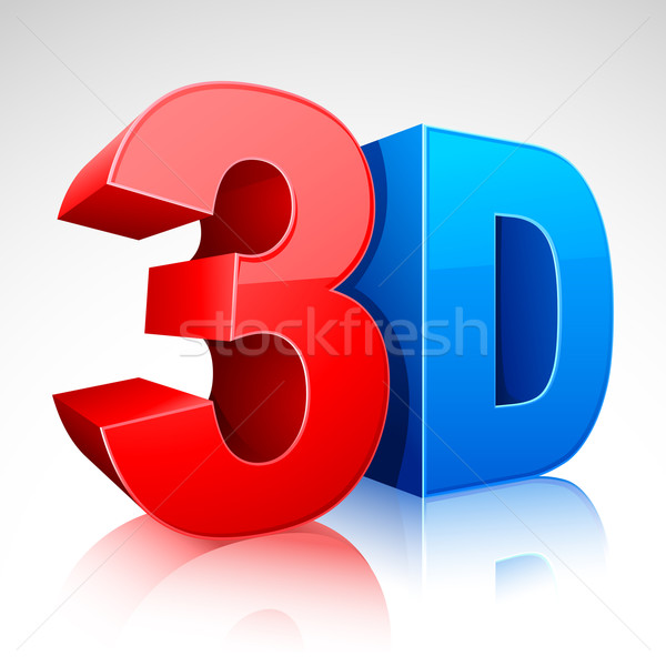 3D Word Symbol Stock photo © vectomart