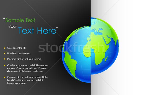 Földgömb üzlet sablon illusztráció absztrakt internet Stock fotó © vectomart