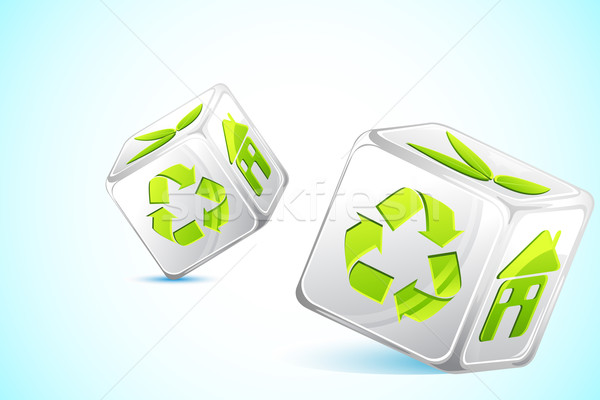 Recycle DIce Stock photo © vectomart