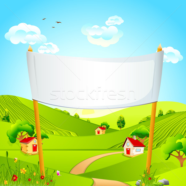 Stock photo: Banner in Landscape