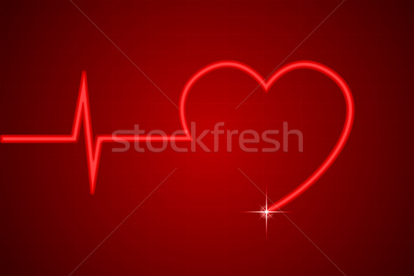 Coeur ligne illustration vie forme de coeur technologie Photo stock © vectomart