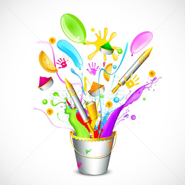 Renkli örnek nesne dışarı bahar soyut Stok fotoğraf © vectomart